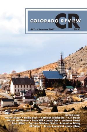 Colorado Review Summer 2017