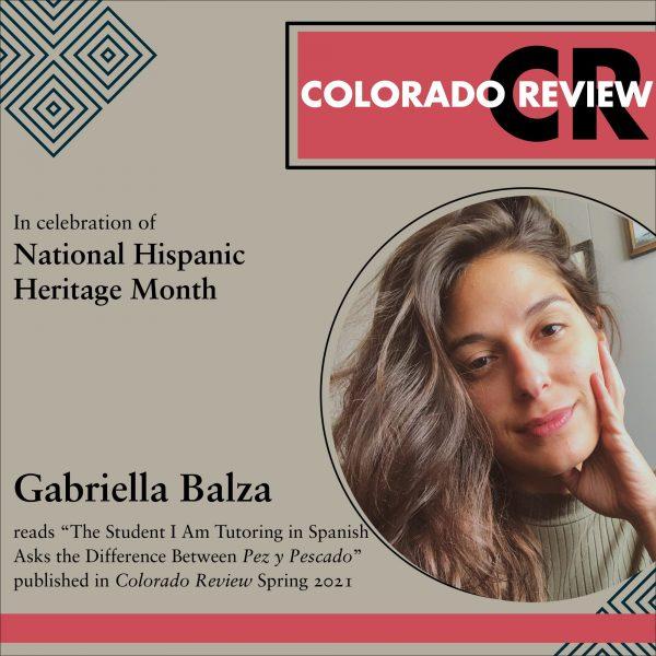 Latinx Reading Series: Gabriella Balza |